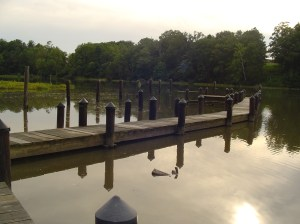 The Kingspoint dock, on College Creek