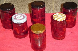 Allow the jars to completely cool and seal before moving them so the preserves set.
