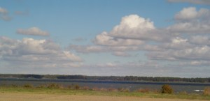 The York River, looking out from Yorktown towards Gloucester.