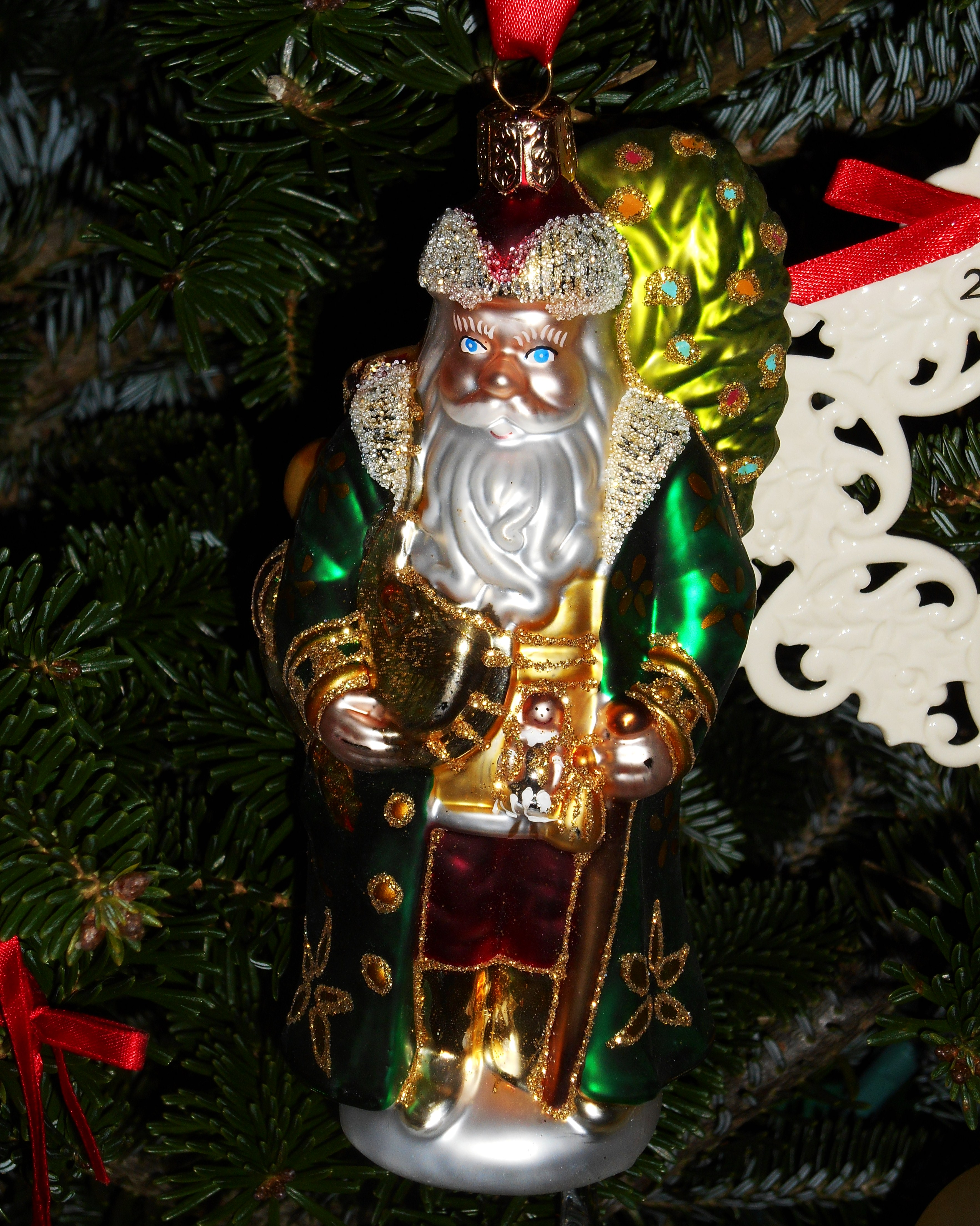 our waterford byzantine santa is new this year found last week at the re - Lenox Christmas Decorations