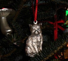 Pewter ornament hand made in North Carolina, purchased from the artist.