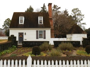 An herb garden on Duke of Gloucester Street in Colonial Williamsburg