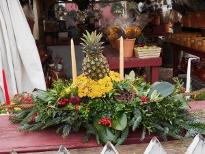A centerpiece in the garden shop at CW will make a local table very festive this month.