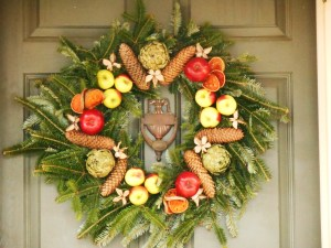 Wreath in Colonial Williamsburg