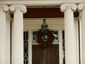 Wreath at the Bowden-Armistead house, still privately owned and occupied.
