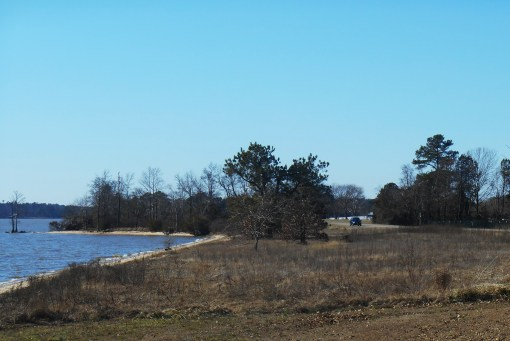 The Colonial Parkway on a spring like January day saw heavy traffic from visitors.