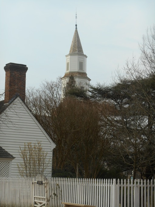 Bruton Parish stands in the heart of Colonial Williamsburg, although it is not owned by the Foundation.  It is still an Episcopalian church.