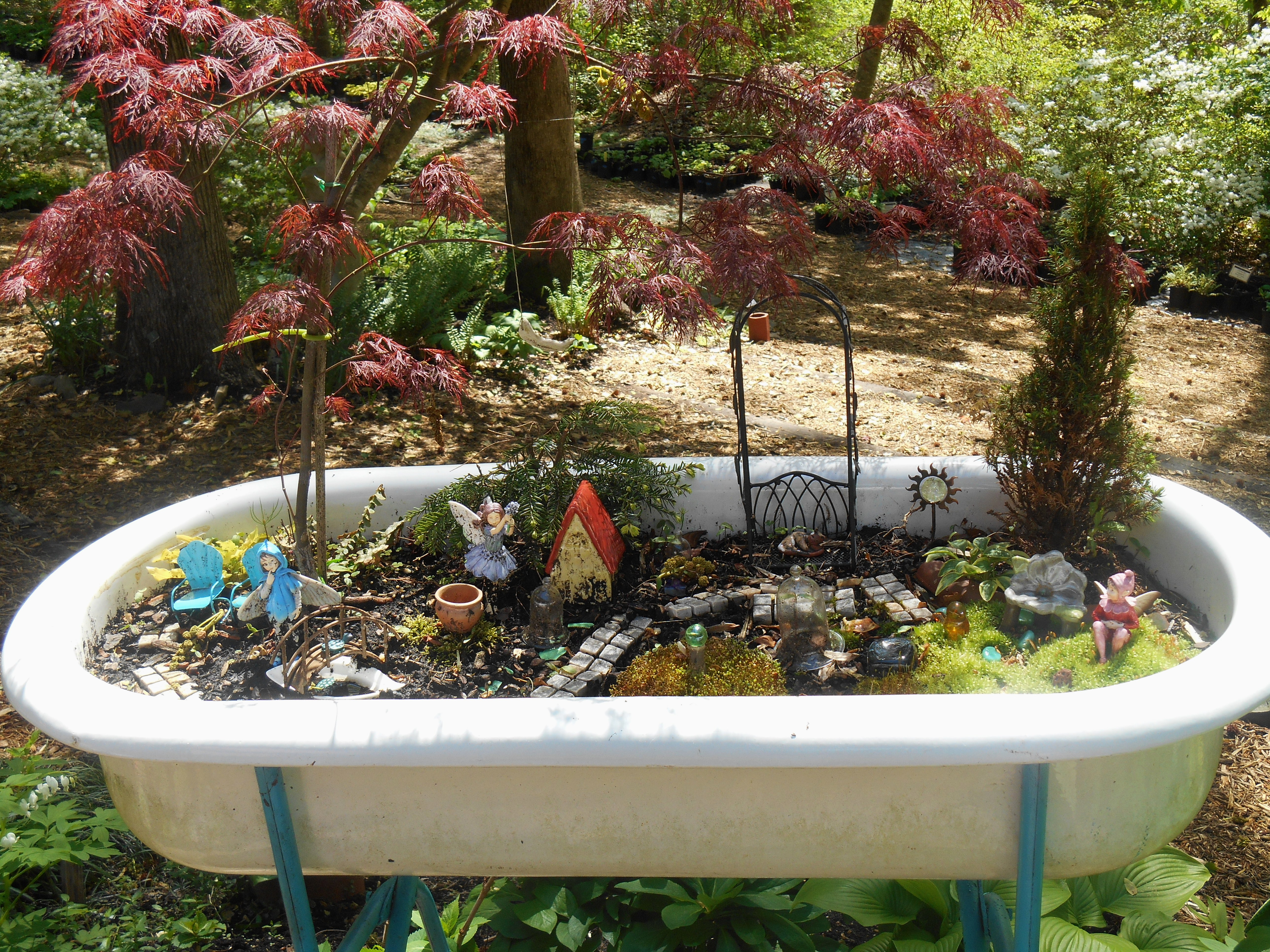 One Word Photo Challenge Turquoise In A Fairy Garden