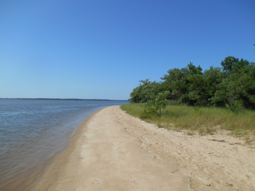 Beach along the James River