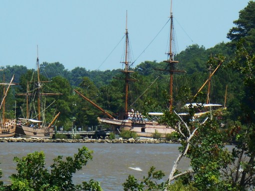 Replica ships at Jamestown Festival Park