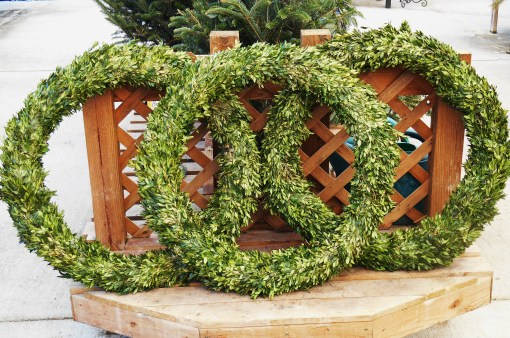 Wreathes and wreath bases are offered at our Homestead Garden Center.  The staff has already begun work towards the hundreds of hand made wreathes they will sell this season.