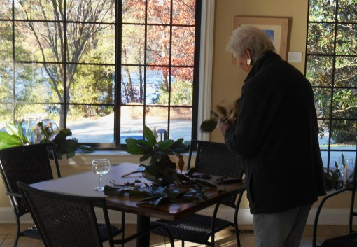 A friend is well known in our community for her beautiful floral arrangements, and fills our windowsills with fresh Magnolia and white candles..