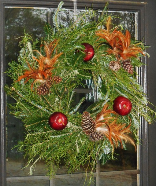 I made this wreath on Saturday.