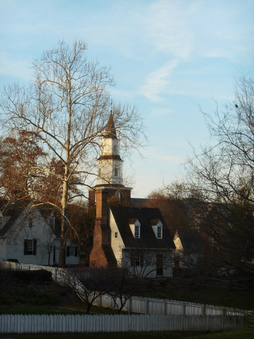 Colonial Williamsburg in late afternoon
