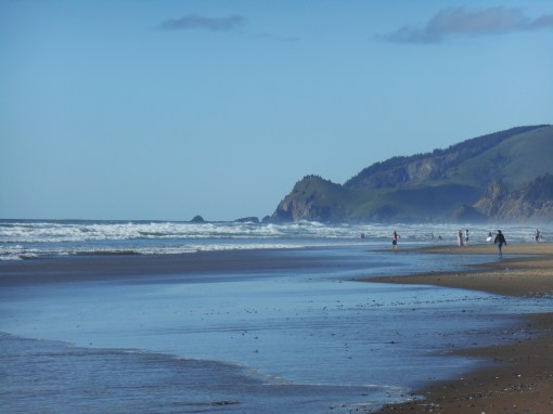 Cascade Head from the beach at Lincoln City, Oregon