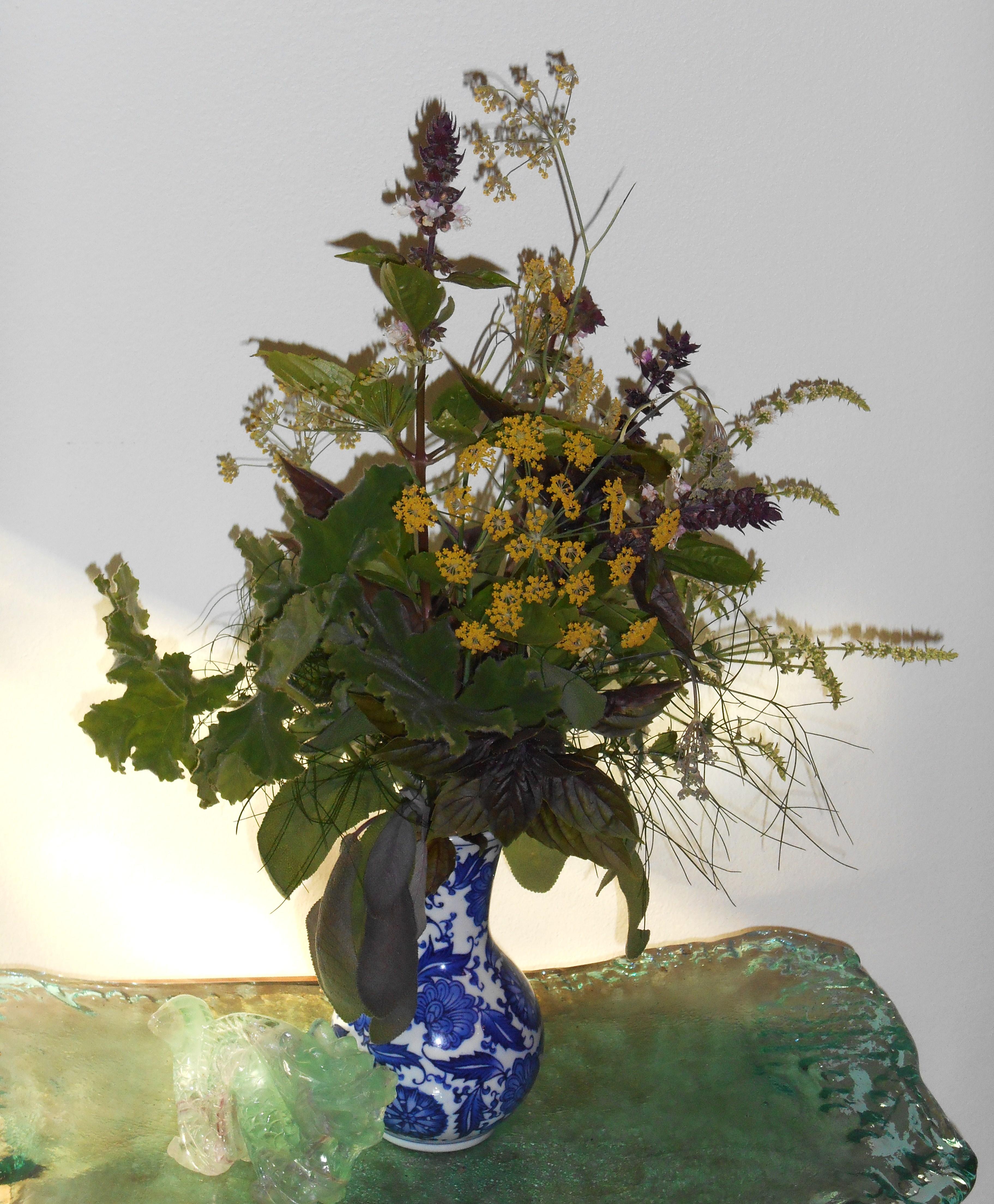 Herbs in a Vase  Forest Garden
