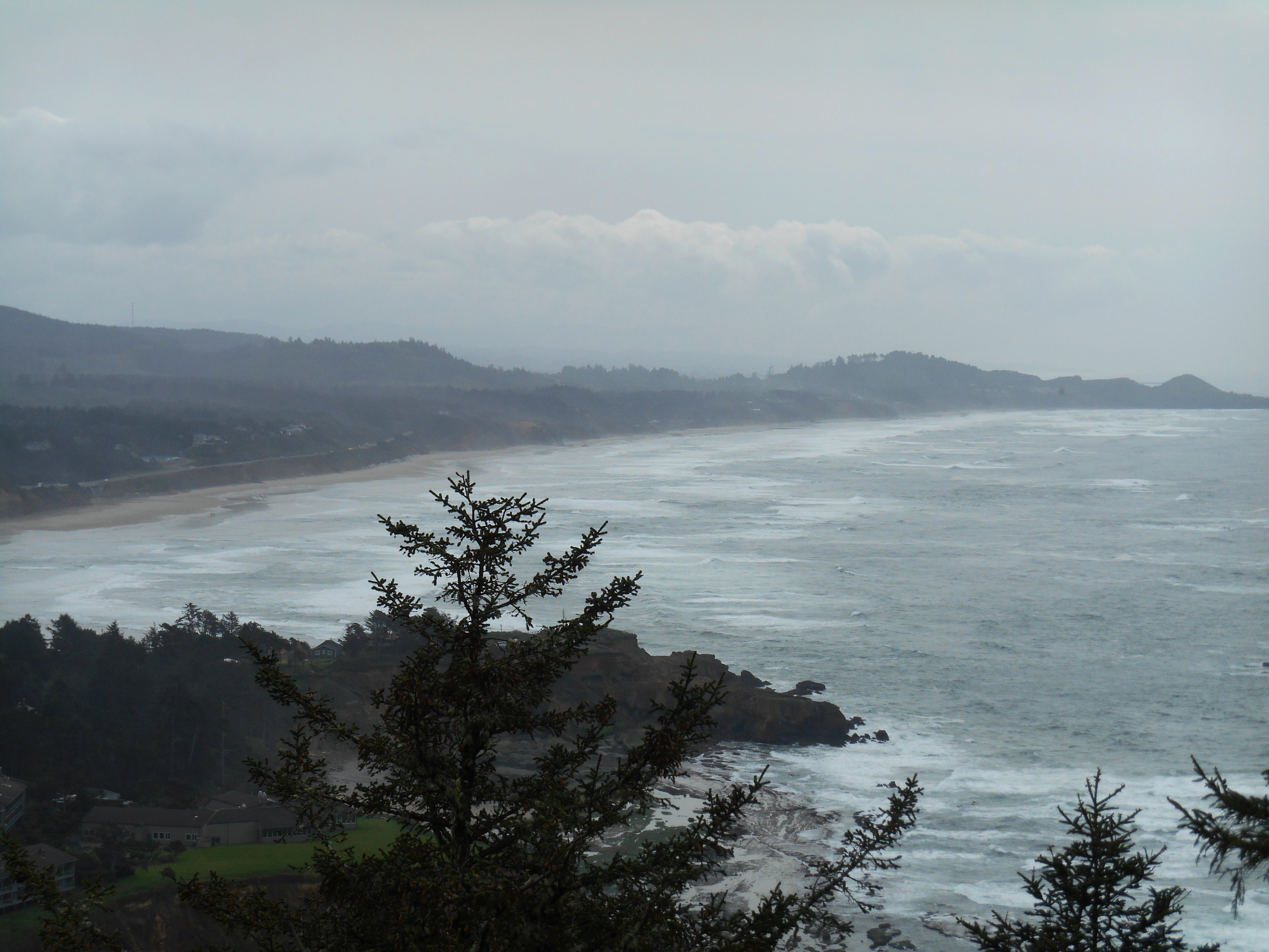 The view from Cape Foulweather, 500 feet above the Pacific.